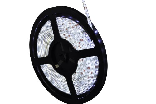 Liroyal 5m 3528 Smd 300 LED Light Strip Waterproof Xmas Lighting 12v Day White