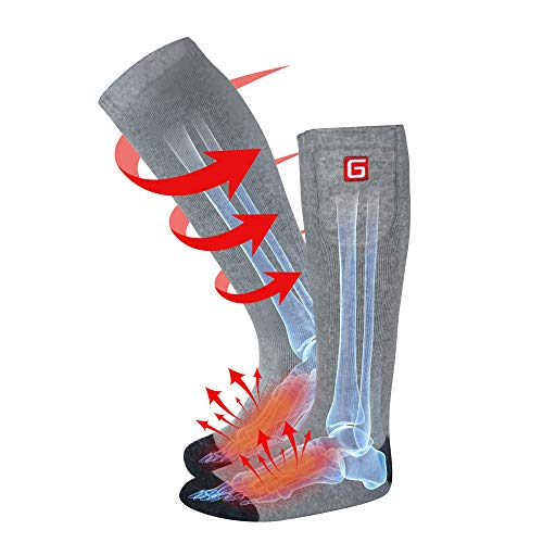 Autocastle Rechargeable Electric Heated Socks,Men Women Battery Powered Heated Socks Kit,Winter Warm...