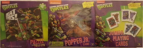 Teenage Mutant Ninja Turtles 3 Game Set Interactive Child Toys Puzzle -Cards - Popper Jr Christmas Gift Children Boy Girl