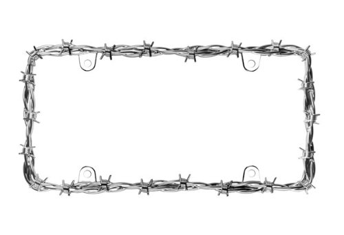 Cruiser Accessories 1 22230 Barbed Wire II License Plate Frame, Chrome