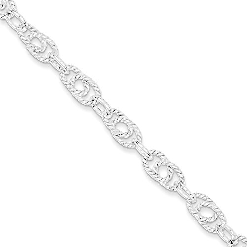 Roy Rose Jewelry Sterling Silver Double Twist Link Bracelet 7'' (Sterling Silver 7' Double Link)