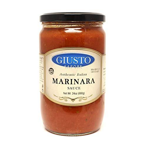 (Giusto Sapore Traditional Italian Pasta Sauce 24oz - All Natural Non GMO Italian Premium Gourmet Brand - Made in Italy and Family Owned (Marinara Sauce))