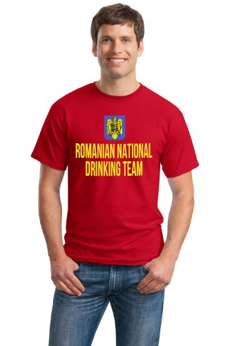 ROMANIAN NATIONAL DRINKING TEAM Unisex T-shirt / Funny Romania Beer Tee