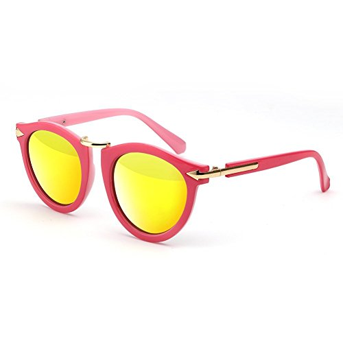 cc9d4b6c26 Menton Ezil Womens Pink Frame Yellow Lens Arrow Style Mirrored Shades  Sunglasses - Buy Online in Oman.