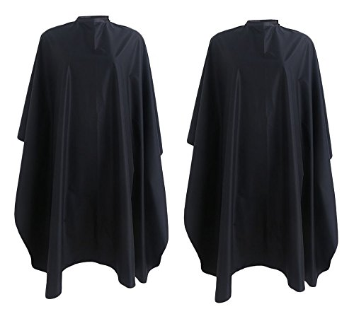 Andlane Hair Cutting Barber Salon Cape for Adults and Kids with Tie Closure - 2 Pack -