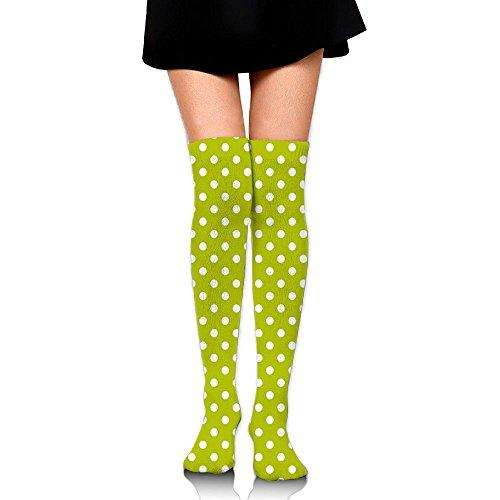 TRUSTINEEgyl Woman Vintage Old Fashioned 60s 70s Inspired Polka Dots Pop Art Style Art Popular Comfort Knit Crew ()