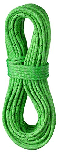 EDELRID Tommy Caldwell DuoTec 9.6mm Pro Dry Dynamic Climbing Rope - Neon Green 70m