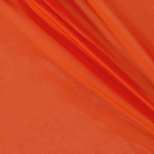 Ben Textiles Chiffon Solid Orange Fabric by the Yard