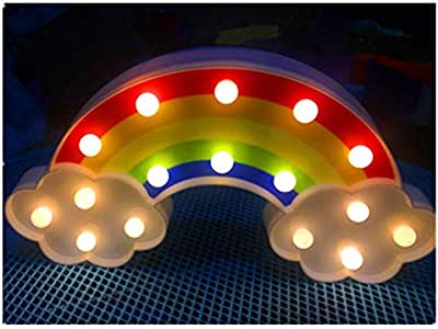 أضواء نايت لمطر LED مصابيح الأناناس قوس قزح مضيئة لتزيين الجدران هدايا عيد الميلاد