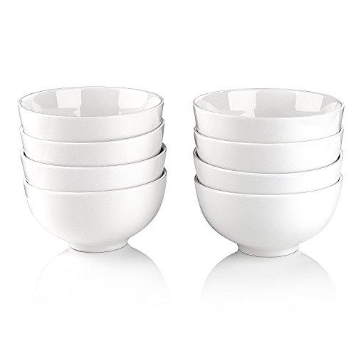 Malacasa, Series Regular, Ivory White Porcelain 5'' / 15oz Cereal Soup Rice Bowls, Set of 8 by Malacasa