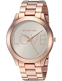 Michael Kors Women's 'Slim Runway' Quartz Stainless Steel Casual Watch, Color:Rose Gold-Toned (Model: MK3804)