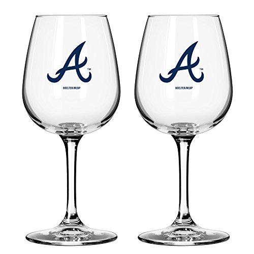 MLB Atlanta Braves Game Day Wine Glass, 12-ounce, 2-Pack