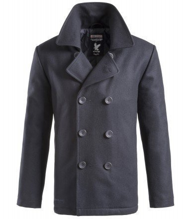 Us Navy Wool Peacoat Jacket - 8