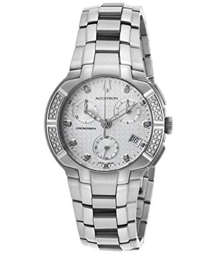 Bulova Accutron York Swiss Made Chronograph Diamond Silver