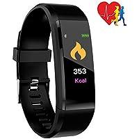 Eipotech Fitness Armband, Fitness Tracker Pulsmesser Wasserdicht IP67 Smartwatch Schrittzähler Aktivitätstracker Pulsuhr Sportuhr