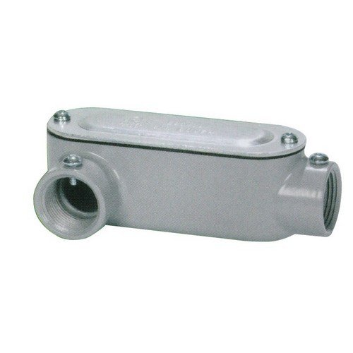 Threaded Aluminum 2 Thread Size Type LR Morris 14275 Combination Conduit Body Set Screw with Cover and Gasket