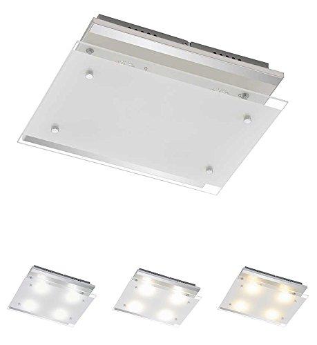 Trango LED Colore della luce di controllo lampada da soffitto plafoniera da bagno (durch On/Off interruttore della luce) Luce Colore a scelta 3000K/K/6000K direttamente 230V tg3622–048 [Classe di efficienza energetica A+] TG3160