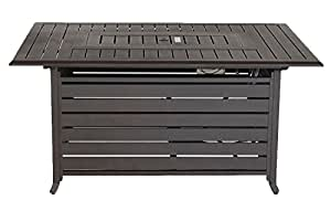 Creative Living 10093603 Rectangle Firepit, Mahogany