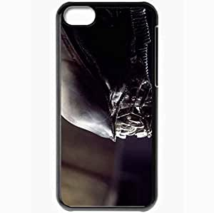 Personalized iPhone 5C Cell phone Case/Cover Skin Alien Black