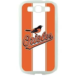 MLB Major League Baseball Baltimore Orioles Samsung Galaxy S3 SIII I9300 TPU Soft Black or White case (White)
