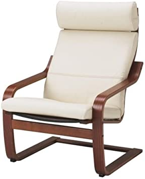 Amazon.com: IKEA poang Sillón Medium Brown con cojín, marco ...