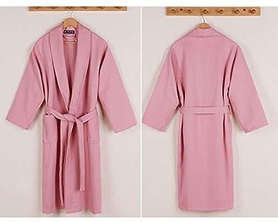 Gelaiken Women Socks Cotton Bathrobes Spring and Autumn Thickening Pajamas Couple Long Home Service (Color : Pink, Size : M) Girls Knee-high Socks