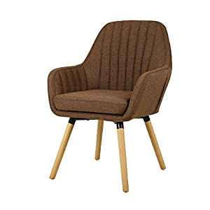 Contemporary Indoor Muted Fabric Arm Chair, Accent Chair Solid Wood Frame Legs