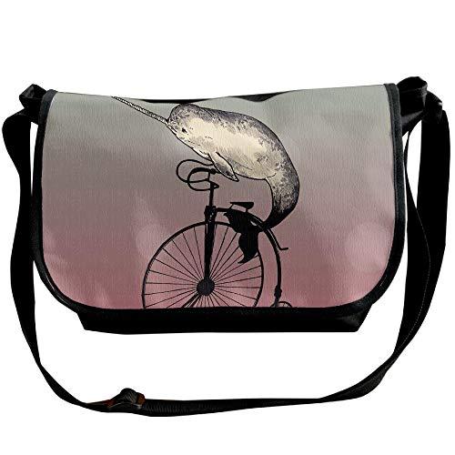Narwhal Crossbody Travel Bicycle A Mens Sling Fashion Handbag Black Bags Bags Riding I6qrHI
