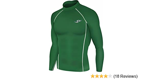 79f4121a315 Amazon.com  New 163 Green Skin Tights Compression Base Layer Long Sleeve  Mens T Shirt  Clothing
