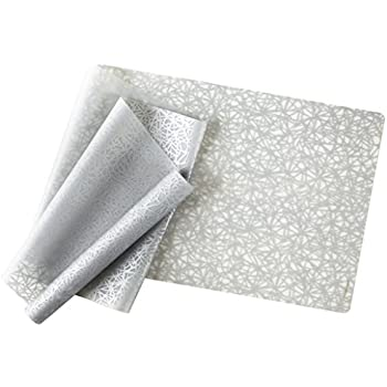 Amazon Com Modern Twist Silicone Placemat Stream Pattern Silver Home Amp Kitchen