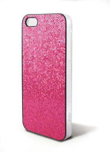 Coque rigide pour iPhone 5 - Bling Strass Paillettes (Rose)