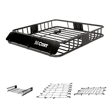 Curt Cargo Rack, Cargo Rack Extension, Cargo Net, And Extended Cargo Net  Bundle
