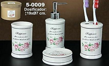 DRW Juego de baño - Set de 4 Piezas (dosificador 6ef5b45498b7
