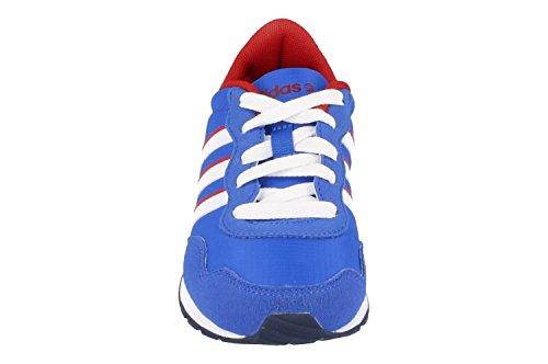 adidas  V Jog K, Mädchen Sneaker, Mehrfarbig Blau / Weiß / Rot