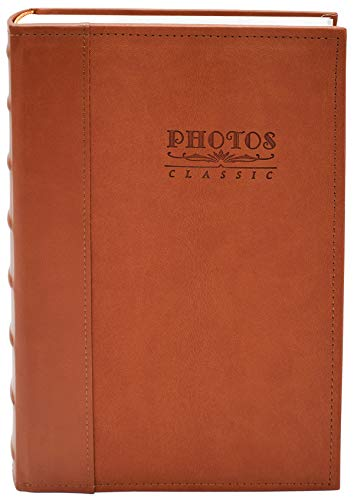 Golden State Art, Photo Album Faux Leather Vintage 300 Pockets Large Capacity Holds 4x6 Picture Book Used for Family Wedding Anniversary Vacation Christmas Baby Dog (Brown)