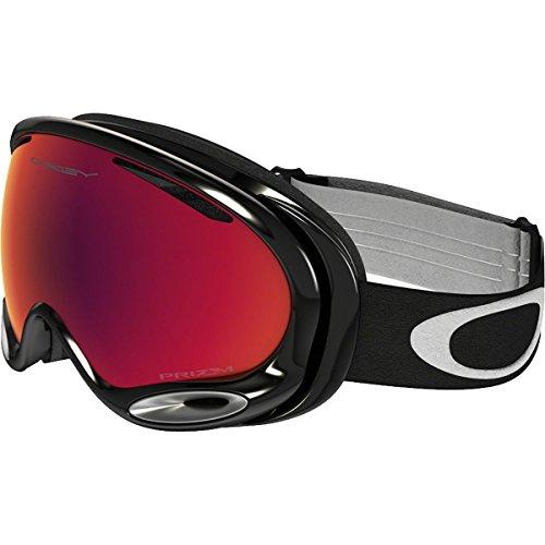 Oakley OO7044-49 A-Frame 2.0 Snow Goggles, Medium, Jet Black, Prizm Torch - Oakley A Goggles Frame Prizm 2.0