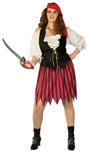 [Forum Novelties Womens Buccaneer Bride Pirate Theme Party Halloween Costume, Plus] (Pirate Bride Costume)