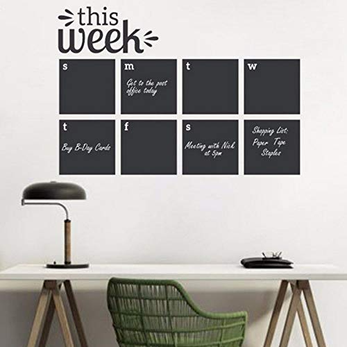 pbldb 61X42Cm Wall Decal This Week Blackboard Planner Removable Vinyl Chalkboard Calendar Decor Sticker Memo Home Wall Decal Sticker