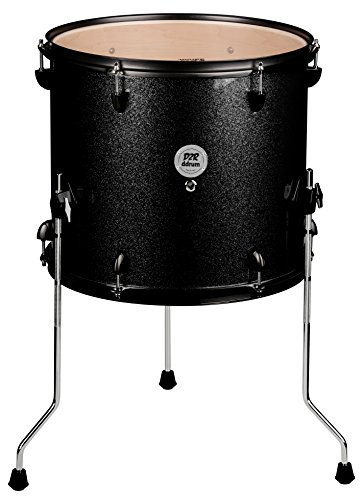 ddrum D2R FT 12X14 BLK SPKL Series Sparkle Floor Tom Drum Set, (12 X 14 Floor Tom)