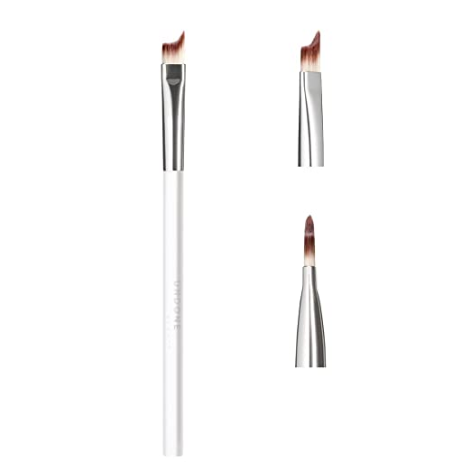 Handcrafted Angled, Winged Eye Brush. One Touch Cat Eye - UNDONE BEAUTY Eye Shadow + Liner Brush. For Precise Outer Eye & Lash Line Definition. Soft & Durable Bristles. Vegan & Cruelty Free.