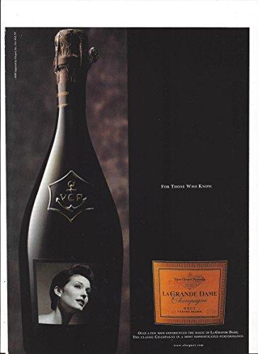 MAGAZINE PAPER AD For 1998 Veuve Clicquot La Grande Dame (Grande Dame Champagne)