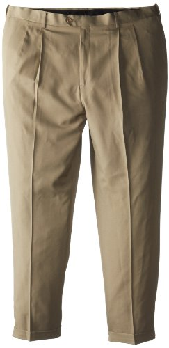 Savane Microfiber Pants - Savane Men's Big-Tall Select Edition Microfiber Pleated Dress Pant, Dark Patina, 44x28