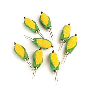 Charcoal Companion Classic Mini-Corn Corn Holders, 4 Pairs