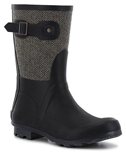 Chooka Women's Waterproof Mid Rain Boot 6 Black