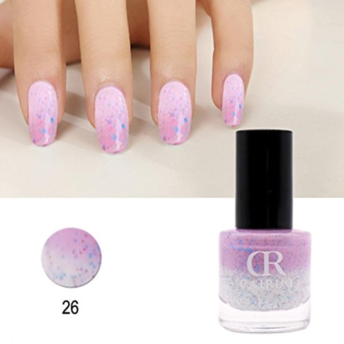 Art Nail Polish, Binmer 12ml Temperature Change Color Gel Po