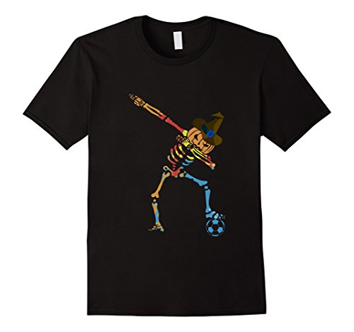 Mens Dabbing Skeleton Shirt Funny Halloween Dab pumpkin T-Shirt Small Black