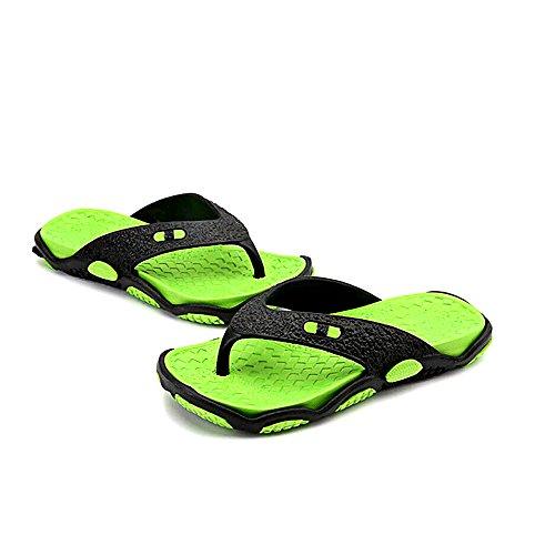 Eastlion Men's Summer Flip Flops Beach Slippers Garden Shoes Sandals Pool Shoes Green ymuJw6mZ