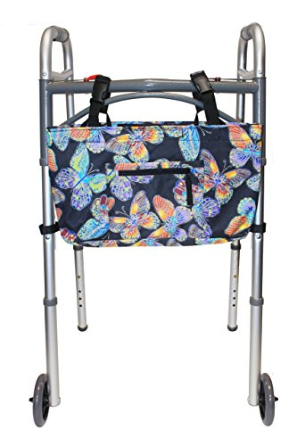 RMS Water Resistant Tote Bag for Walker, Rollator or Scooter (Butterfl