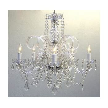 Crystal chandelier chandeliers lighting h25 x w24 swag plug in crystal chandelier chandeliers lighting h25 x w24 swag plug in chandelier w aloadofball Gallery
