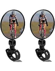 Fietsachteruitkijkspiegel, convex, 360 graden verstelbaar, voor fiets, motorfiets, mountainbike, 2 stuks